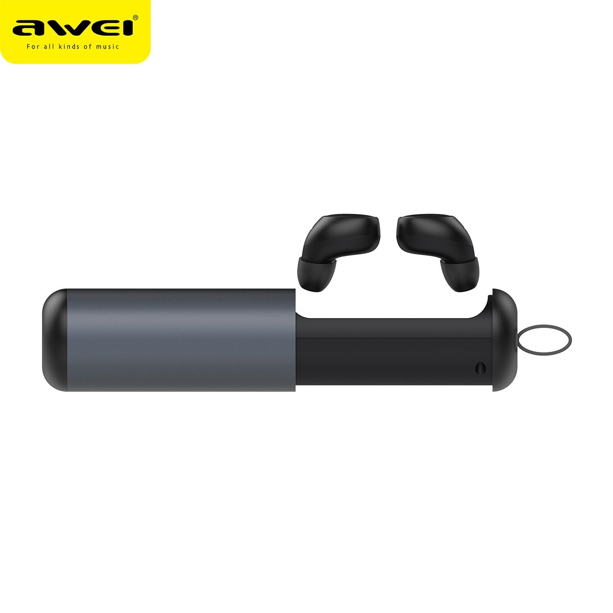 AWEI T5 TWS Bluetooth earphones business wireless headphone 3D stereo headset and power bank with mic Fone de ouvido Earbuds