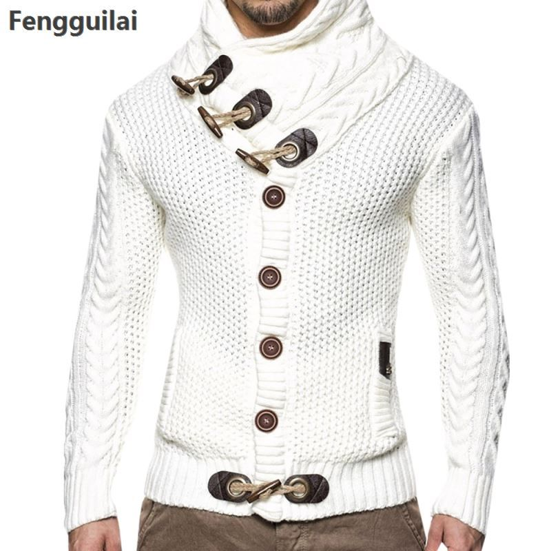 Autumn Winter Fashion Casual Cardigan Sweater Coat Men Loose Fit 100 %Terylene Warm Knitting Clothes Sweater Coats Men 4xl