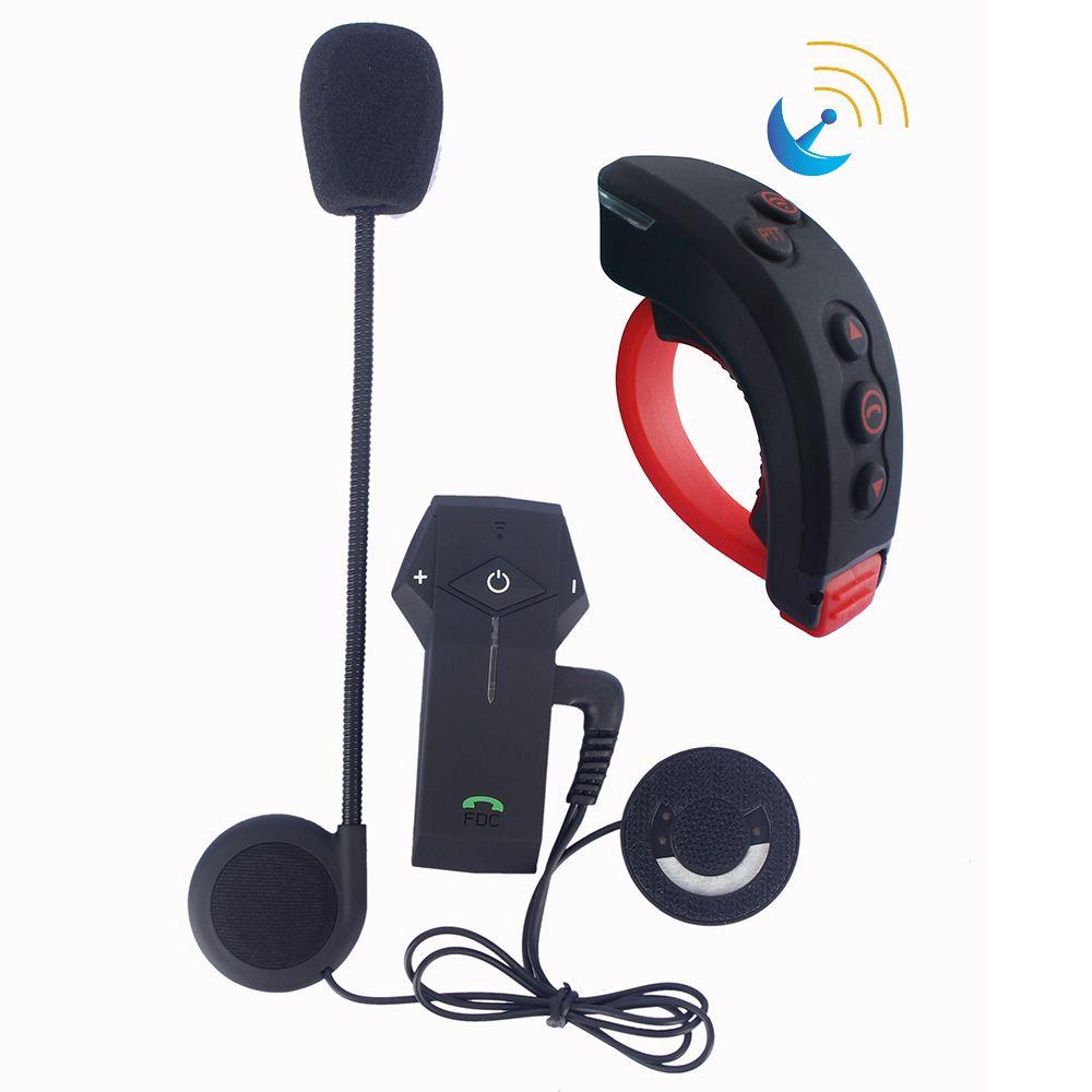 2019 plus récent télécommande + moto casque Interphone sans fil Bluetooth casque BT Interphone + FM Radio NFC fonction
