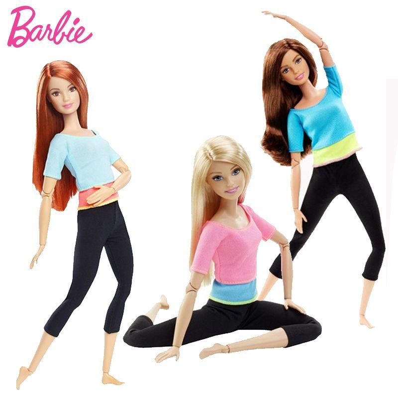 Original Barbie Poupée Mouvement Style Tous Les Articulations Mobiles Poupées De Yoga Modèle Jouet Pour Petit Bébé Cadeau D'anniversaire Barbie Fille Bonecas