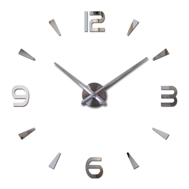 Offre spéciale bricolage sticker mural horloges acrylique quartz matériel décoration de la maison salon europe autocollants encore la vie