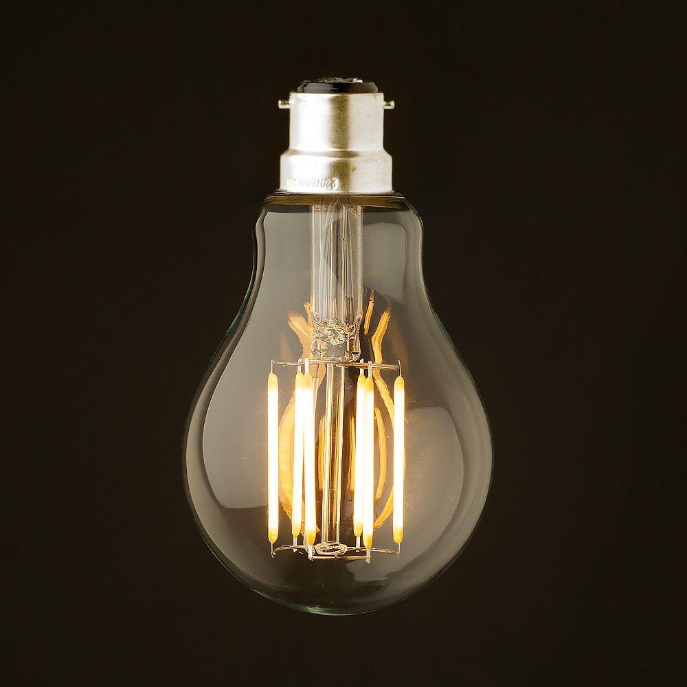 8 W, B22 Baïonnette Base, Rétro LED Filament Ampoule, 220-240VAC, Chaud Blanc Edison A19 Globe Style, Éclairage Décoratif, Dimmable