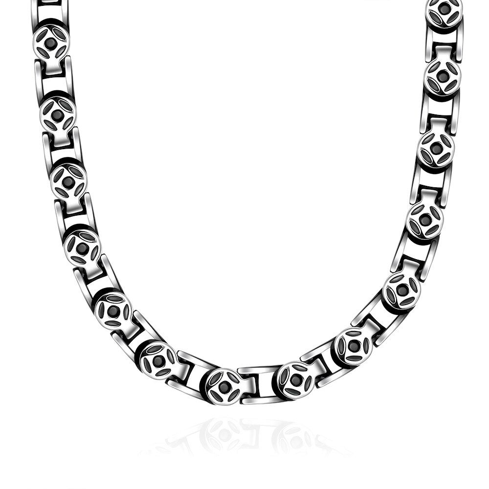 Europe and the United States sales fashion simple models 24-60MM men's necklace N060 high-quality jewelry 925 silver