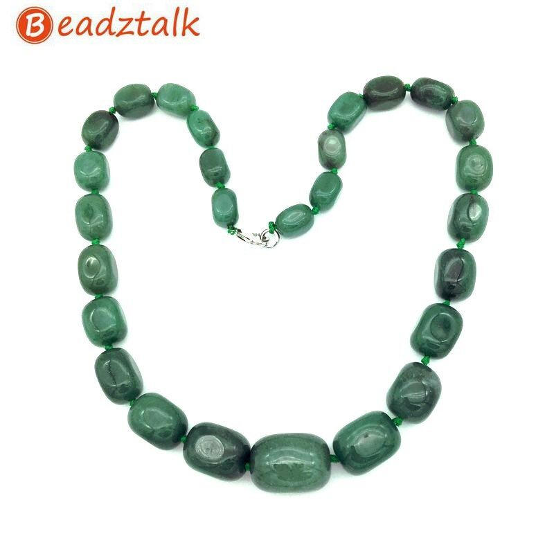 Perles en pierre naturelle collier ras du cou gradué bijoux de fête perle taille 9x12mm à 16x24mm Amazonite Jaspers Howlite Unakite Etc