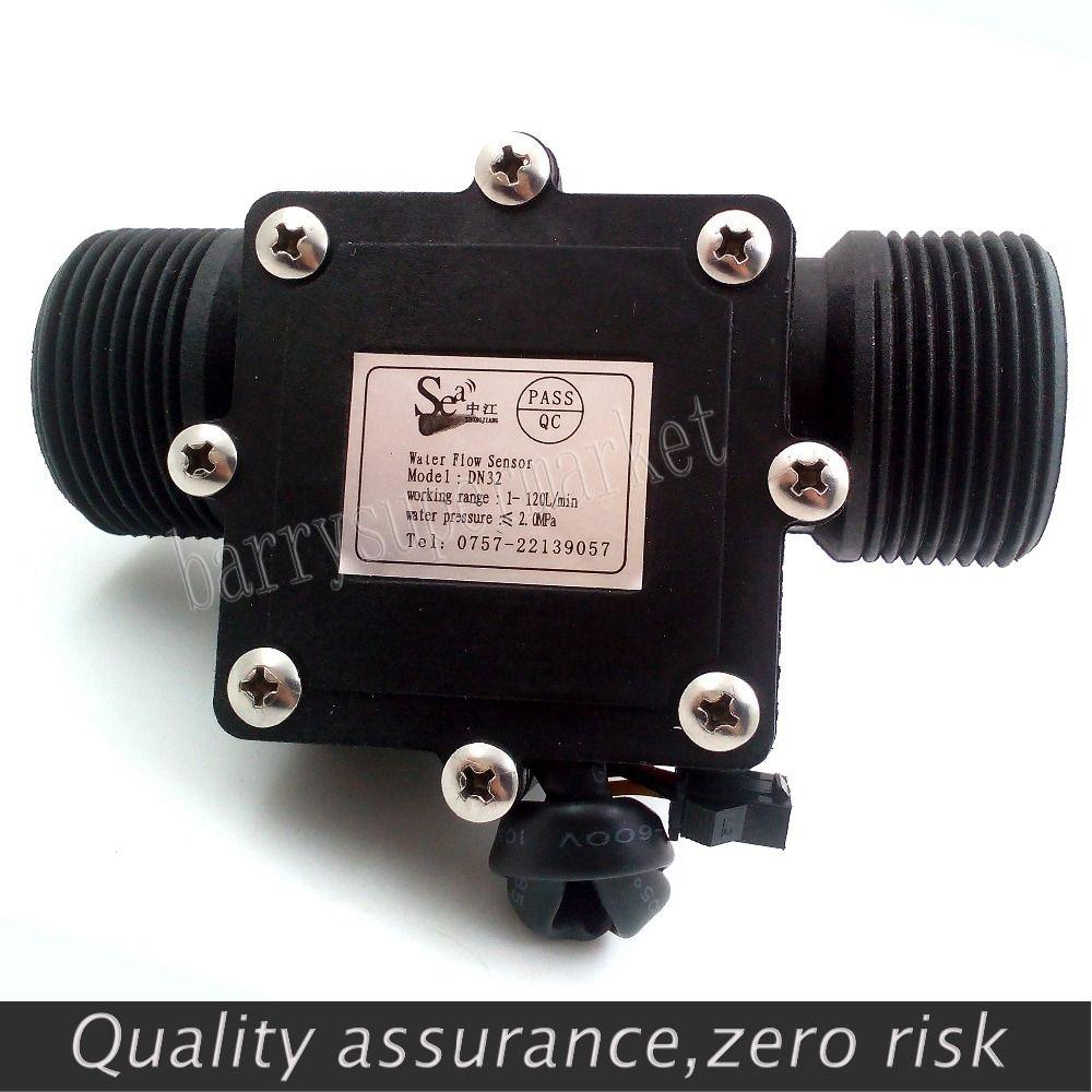 Water Flow meter flowmeter Hall Sensor Switch counter fuel gauge indicator caudalimetro flow device DN32 G1-1/4