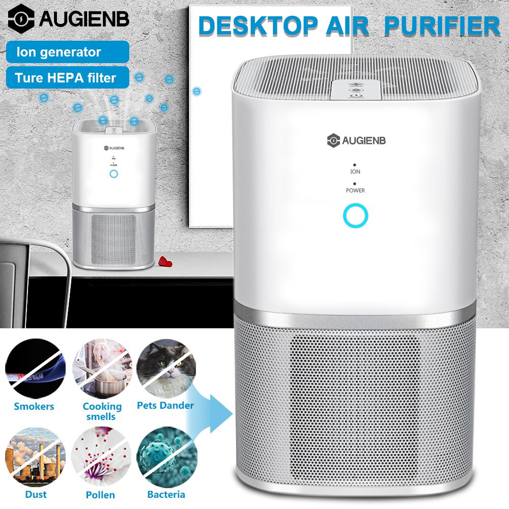 Augienb 3 in 1 Air Purifier With True HEPA Active Carbon Filter Dust Active Ozone Generator 2S Sterilizer Control Smoke Clean