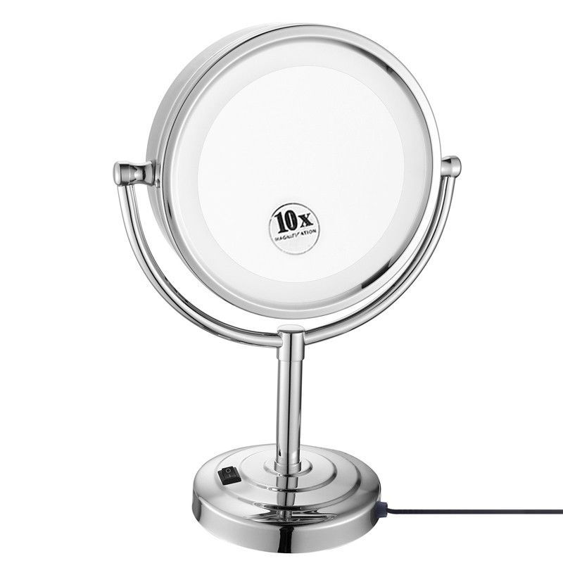 Gurun LED Makeup Mirror-8.5 Inch 10X magnifying Cosmetic Mirror Double Sides makeup mirror with light compact blank M2208D