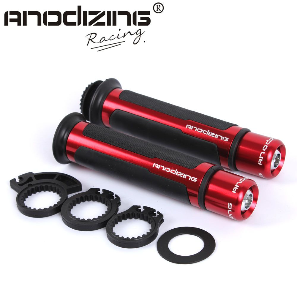Free Shipping THE HOT ANODIZING 7/8'' CNC 22MM Universal Motorcycle Handle CAPS / Handlebar Grips For Honda CB250 CB400 CBR500