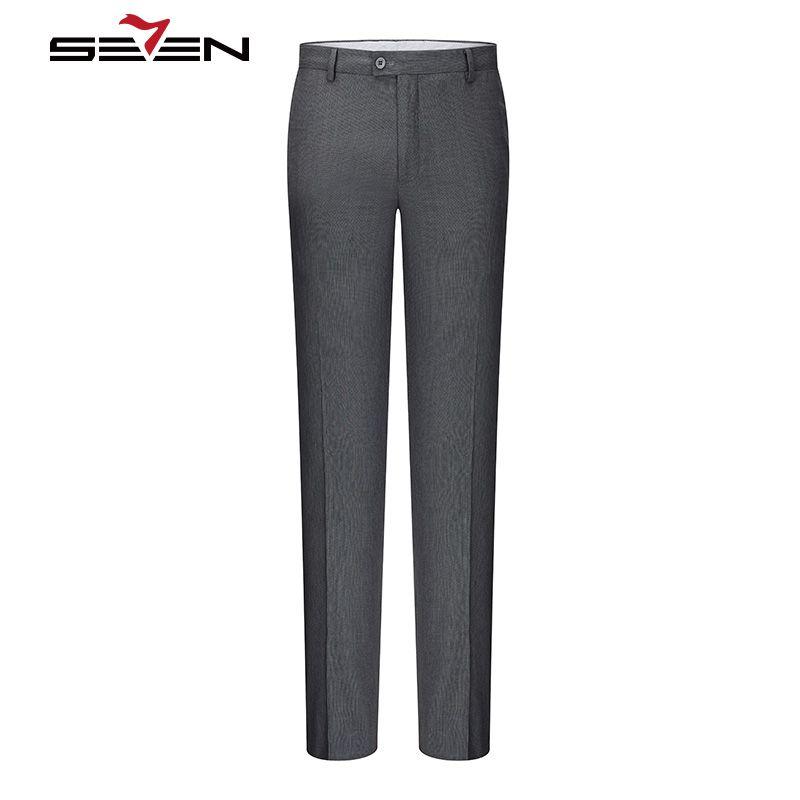 Seven7 Брюки для девочек костюм Для мужчин классической мужской Мотобрюки мужская одежда длинные Костюмы Брюки для девочек Slim Fit Бизнес Офисны...
