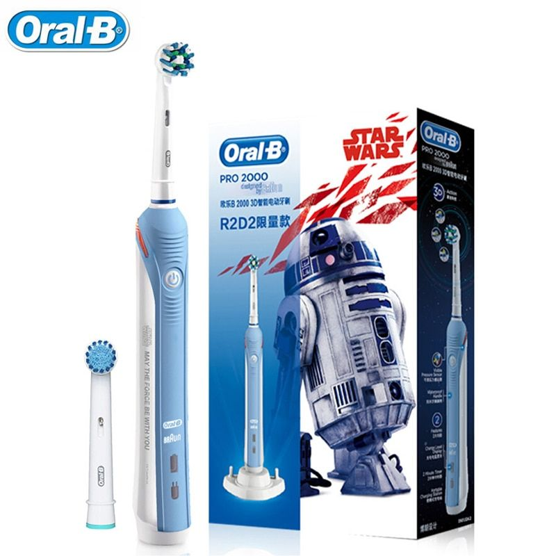 Oral-B PRO 2000 3D Smart Electric Toothbrush For Adult Teeth Whitening Rechargeable 48800 Frequency from Germany Sensitive Care