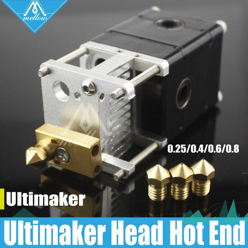 3D drucker Heaterblock Ultimaker 2 + UM2 einzigen Kopf Extruder Olsson block kit Düsen 0,25/0,4/0,6/ 0,8mm HotEnd für 1,75/3mm