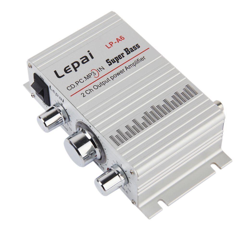 Lepy Авто Мото MP3 MP4 Hi-Fi аудио стерео мини Усилители домашние 12 В 2A