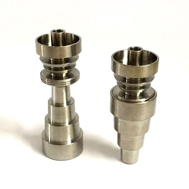 Universel 6 en 1 titane clou métal Banger dômes titane clou 10mm 14mm mâle et femelle Joint pour Dab Rig Bongs tuyaux 0C