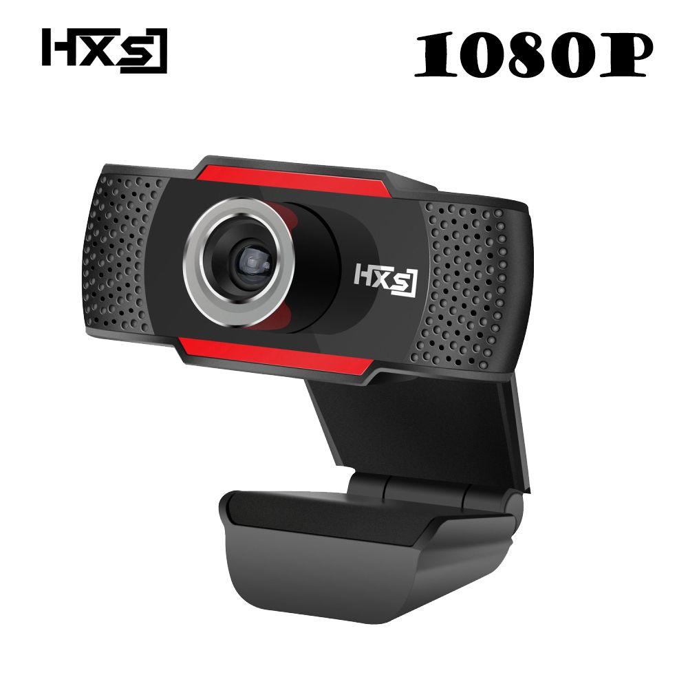 HXSJ HD 1080 P Webcam Drehbare PC Computer Kamera Videotelefonie und Aufnahme mit Noise cancelling-mikrofon Clip auf stil