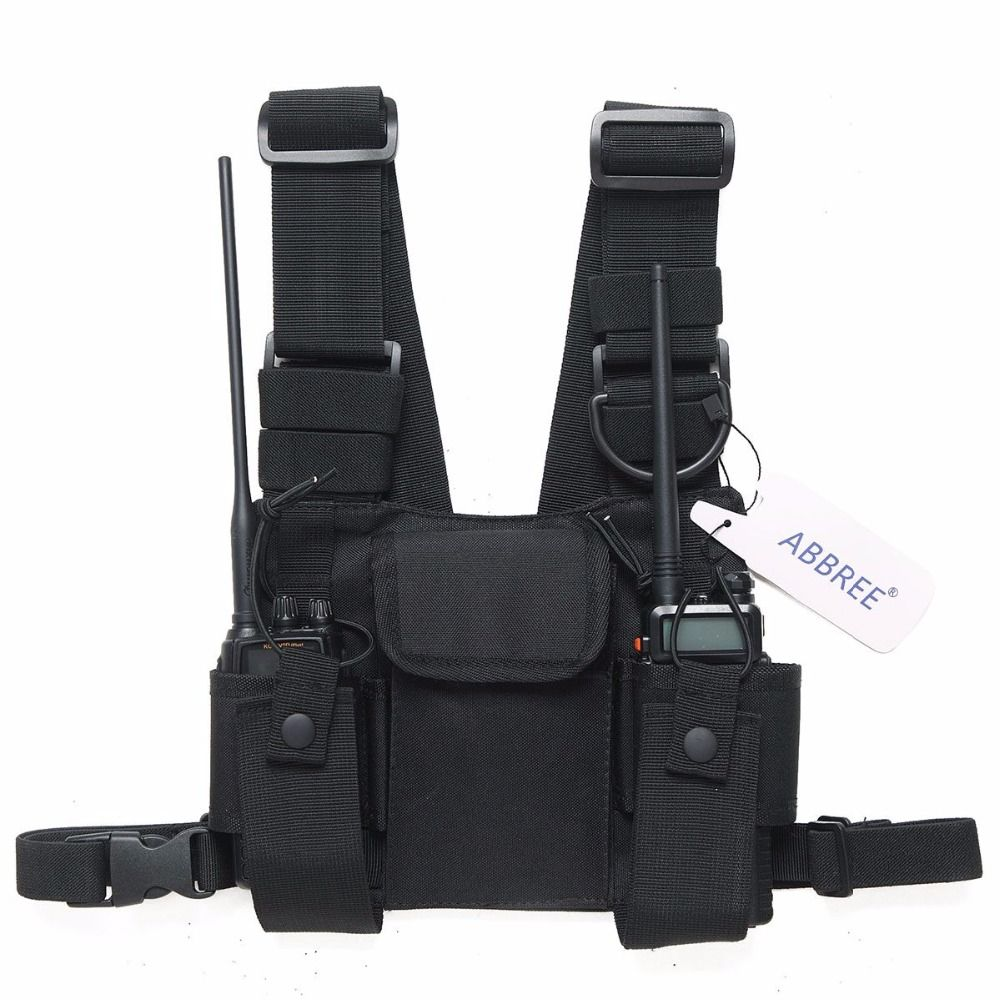 Radio Harnais poitrine pack avant étui à poche Gilet Plate-Forme sac de transport pour Baofeng UV-5R UV-82 UV-9R BF-888S TYT Motorola Talkie Walkie