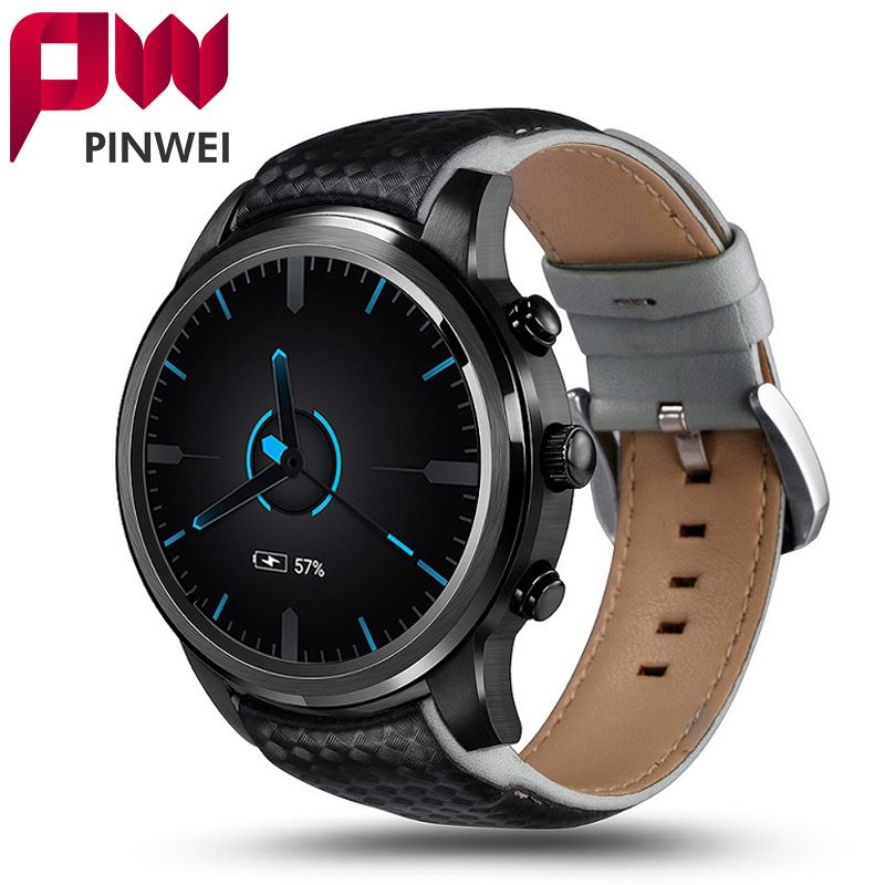 PINWEI LEM5 Android 5.1 Smart Watch Phone Support SIM Card Wifi 1GB+8GB Bluetooth MP3 Smartwatch With Pedometer for Android IOS