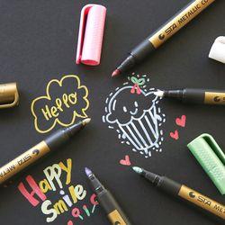 1 pc Aiguille Dessin Métal couleur artisanat stylo or et argent stylo de peinture Stylo crayon