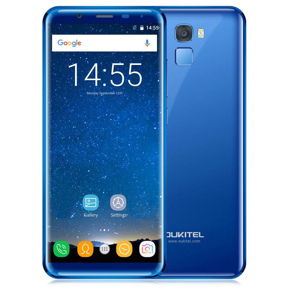 OUKITEL K5000 Smartphone 5.7 Inch 4G Phablet Android 7.0 MTK6750T Octa Core 1.5GHz 16.0MP Rear Camera Fingerprint Scanner Phone