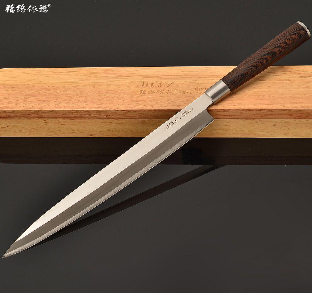 Couteau de cuisine japonais gauche Yanagiba Sushi Sashimi acier inoxydable allemand 12 pouces japon filet de poisson couteau de cuisson 11.3GW