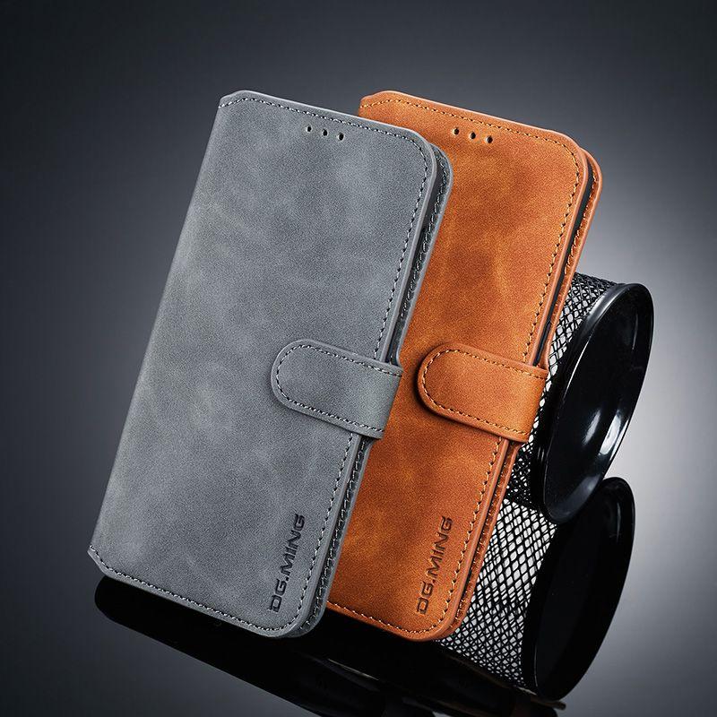 One plus 7 DG. Ming étui en cuir pour Oneplus 7 6 t coque de téléphone étui de livre pour Oneplus 7 Por 7pro housse de porte-cartes en cuir