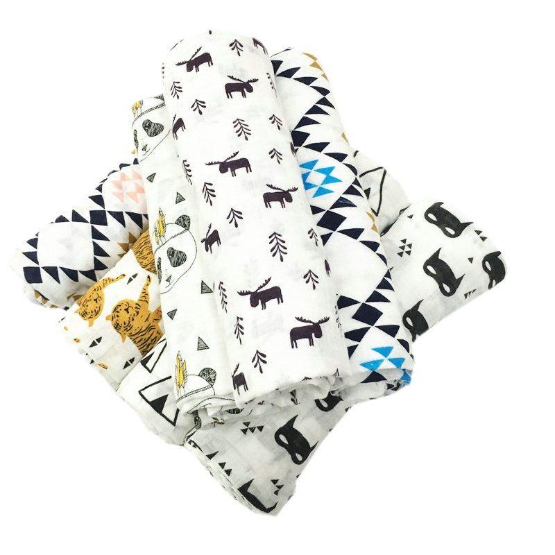 Новорожденных Обёрточная бумага детское одеяло для Для ванной Полотенца многофункциональный супер мягкий хлопок муслин пеленать Одеяло ...
