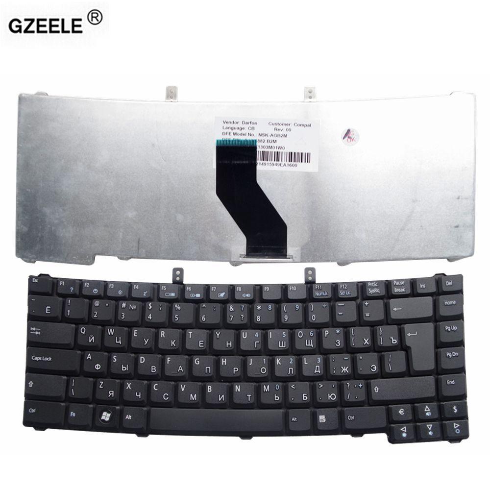 GZEELE Replace russian Keyboard for Acer Extensa 4220 4230 4420 4630 5220 5620, TM 4520 5710 4520 5710 RU Black laptop keyboard