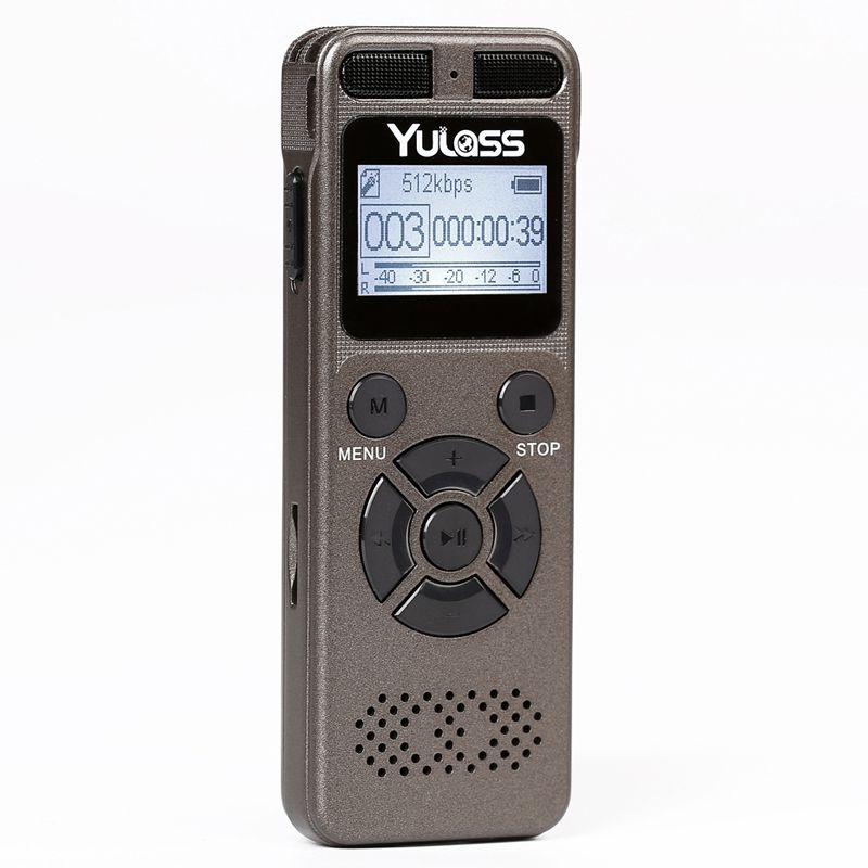 Yulass 8GB Professional Audio Recorder Business Portable Digital Voice Recorder USB Support Multi-language,Tf Card to 64GB