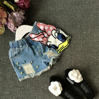 2018 Bébé filles shorts jeans canard conception d'été enfants de shorts enfants short en jean pour les filles pantalon bébé fille vêtements
