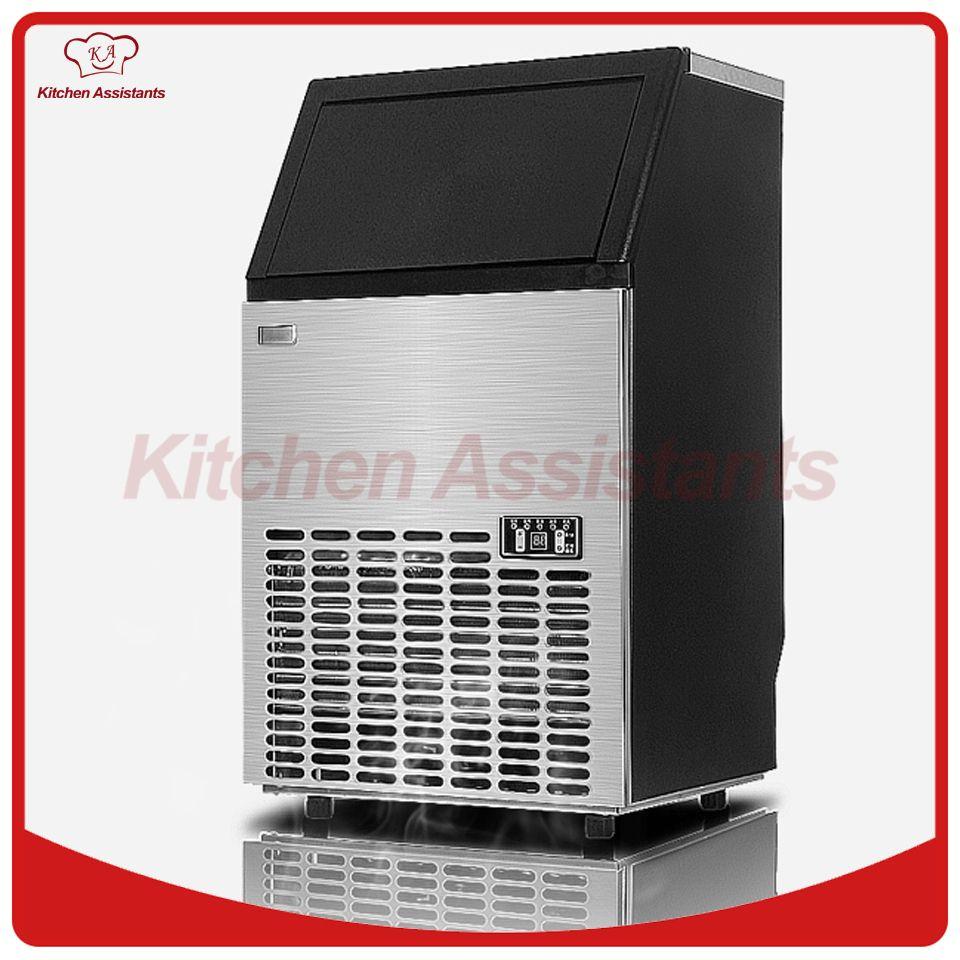 HZB50 HEIßER 50kgs/24 H Automatische eismaschine, haushalt eiswürfelmaschine für gewerbliche nutzung für bar für café,