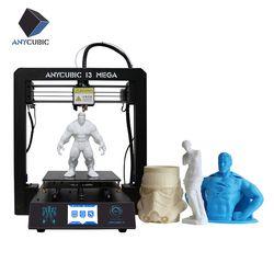 Anycubic 3D Imprimante I3 Mega Impresora 3D DIY Kit Full Metal Grand Impression Taille Tactile Écran LCD Filament 8g SD Carte 3d drucker