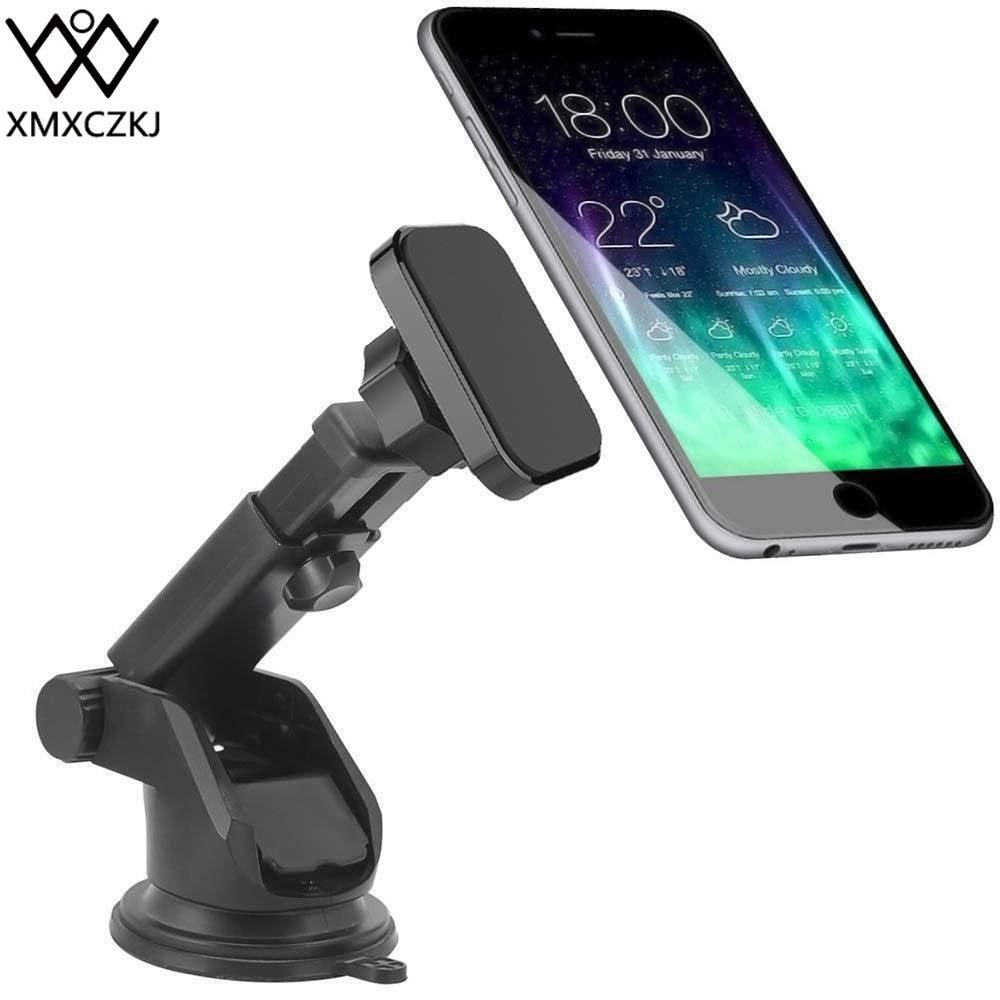 XMXCZKJ Dash Magnetic Car Windshield Mount Holder Cell Phone Holder Long Arm Stand For Iphone XR Magnet Phone Holder for Mi8