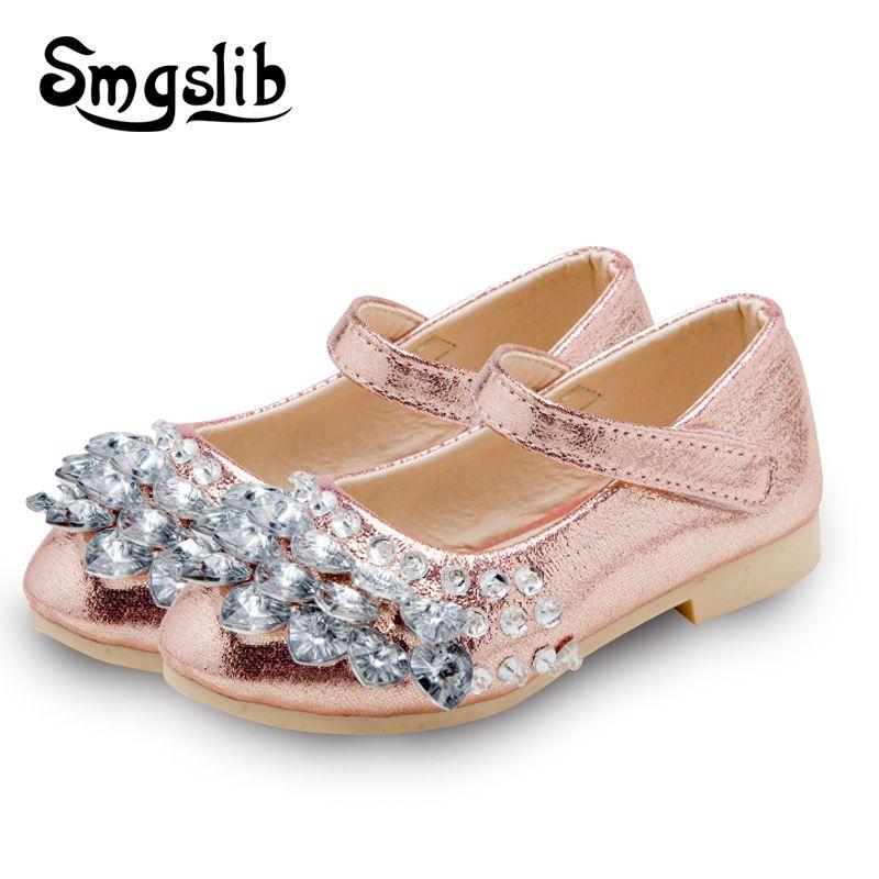 Kinder shoes mädchen mode strass prinzessin glitter mädchen dance shoes partei pu leder herbst frühling kinder shoes für mädchen