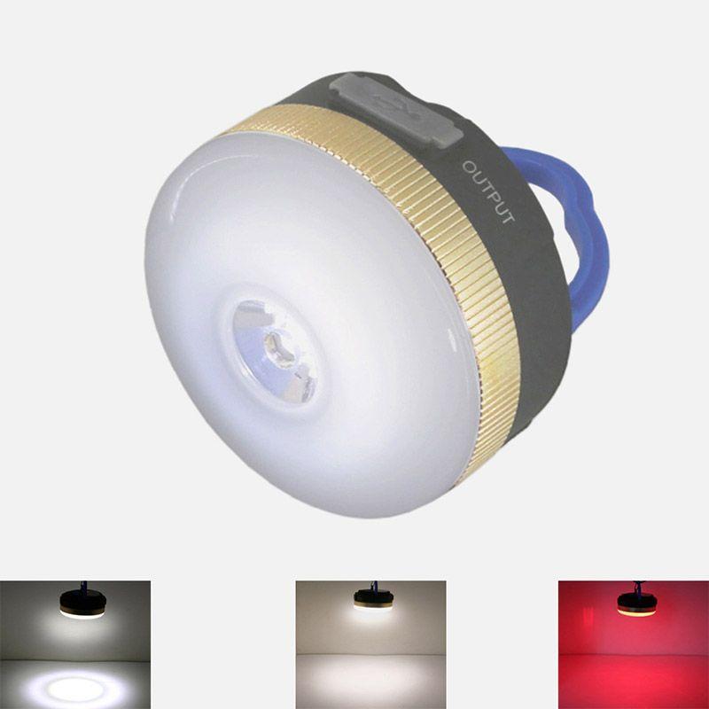 USB 9 Led tente lumière Recharge 5 V 1A 1800 mAh Camping lampe lanterne rouge led Portable Source d'alimentation chargeur pour téléphone