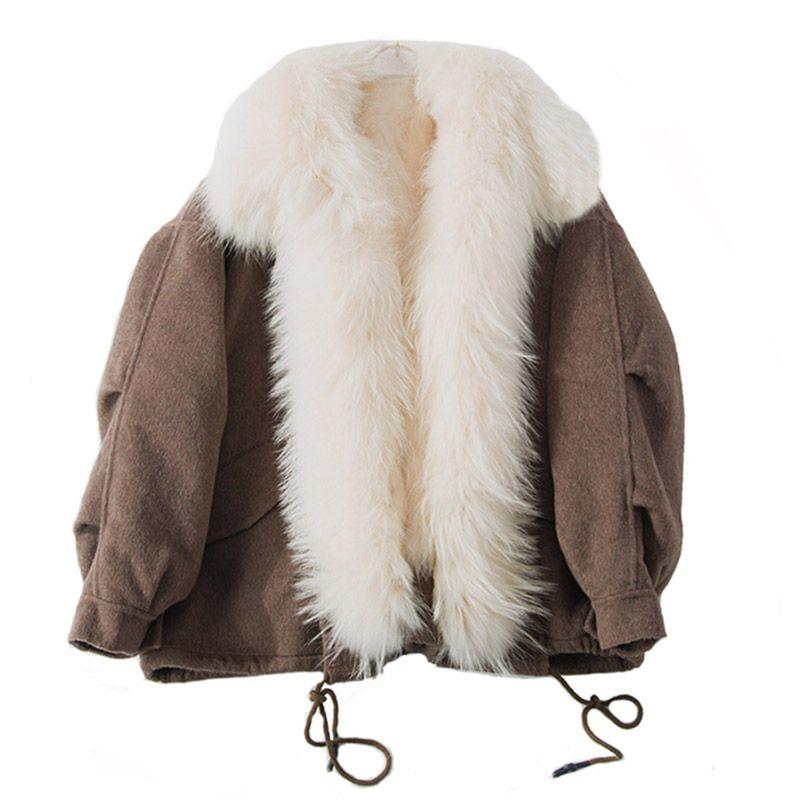 2018 neue frauen luxus echten schafspelz mantel mit echtpelz innen und kragen trimmen warm mode winter frühjahr Abnehmbaren parkas