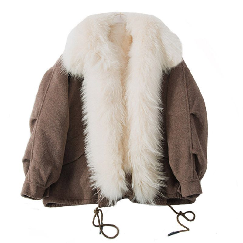 2018 new women luxury genuine sheep fur coat with real fur inside and collar trim warm fashion winter spring Detachable parkas