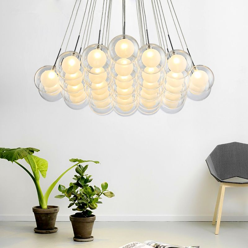 Pendant Lights Modern glass ball LED Personalized the bedroom romantic restaurant hanging lamps bar indoor hanging lights