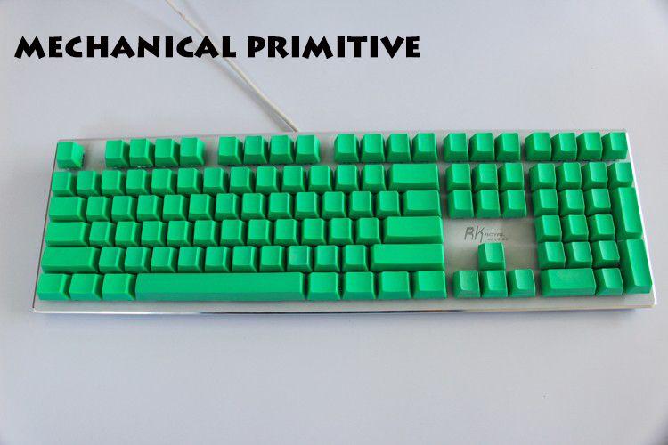 MP 108 clés épaissir PBT vert blanc Keycap haute résistance à l'usure OEM profil Keycaps pour Cherry MX commutateurs clavier mécanique