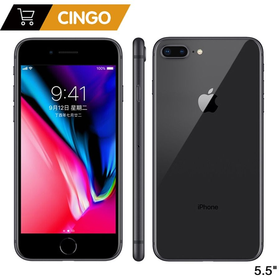 Original Apple iphone 8 Plus Hexa Core iOS 3 gb RAM 64-256 gb ROM 5,5 zoll 12MP Fingerprint 2691 mah LTE Handy