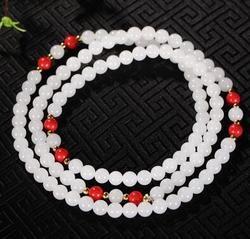 Graisse de mouton jade accessoires zhu sha à conjurer le mal bracelet.