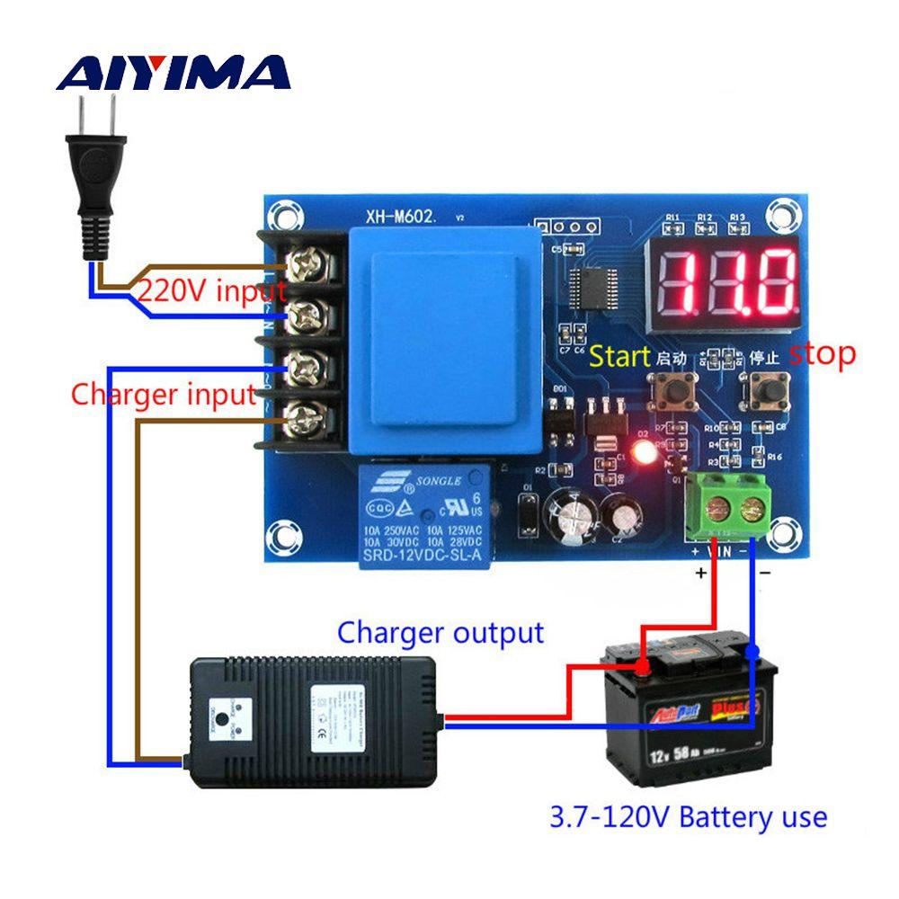 Aiyima 3.7 V-120 V CNC batterie de stockage/batterie au Lithium Module de contrôle de charge panneau de Protection de commutateur de batterie
