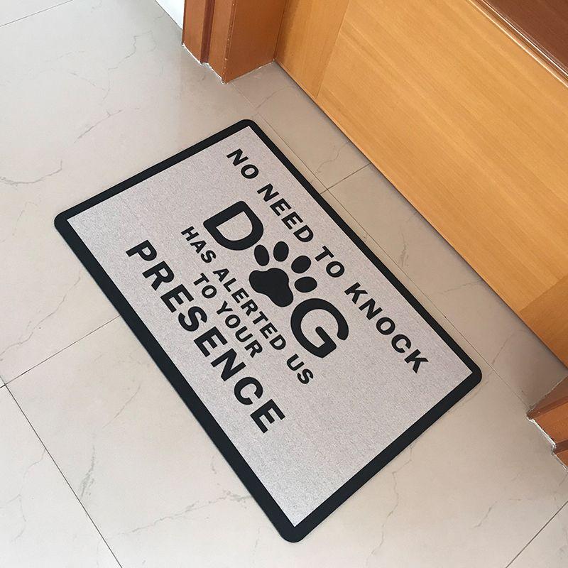 Paillasson en caoutchouc tapis de sol d'entrée pas besoin de frapper chien nous a alertés de votre présence tapis de porte drôle tapis de bienvenue intérieur extérieur