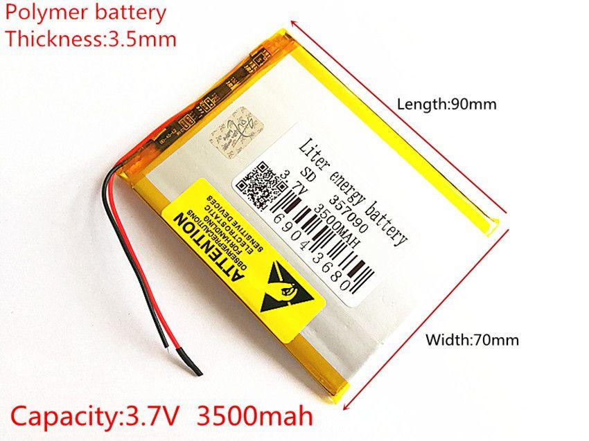 Nouvelle batterie 357090 3.7 V 3500 mAh batterie au Lithium polymère avec panneau de Protection pour tablette PC U25GT livraison gratuite