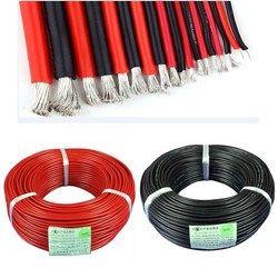Jimitu Baru 12/14/16/18/20/26/28/30 AWG Gauge Kawat silikon Fleksibel Terdampar Kabel Tembaga untuk RC Hitam Merah