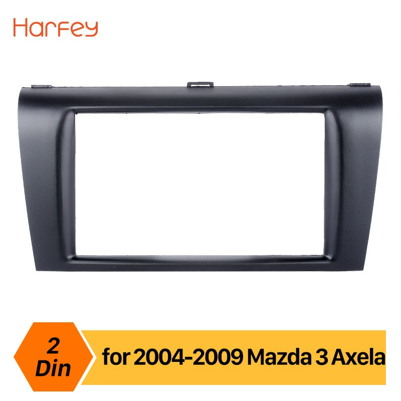 Harfey Auto Radio Fascia Panel Für Mazda 3/Axela 2DIN Trim Installation Dashboard Kit Dash DVD-Player Montiert Rahmen