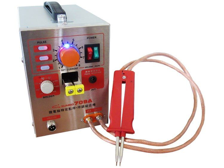 SUNKKO 709A 1500W Spot Welding & Soldering Station with Universal welding pen for phone notebook 18650 lithium battery