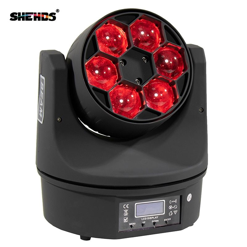 2pcs/lot LED Bee Eye 6X15W RGBW Moving Head Lighting Ultimate Rotate Stage Beam Effect Stage Euiqpment 90W High Power LED Lamp