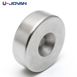 U-JOVAN 30 x 10 mm Hole 6 mm N35 Super Strong Ring Loop Countersunk Magnet Rare Earth Neo Neodymium Magnets Cylinder 6mm