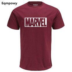 Eqmpowy 2017 Nouvelle Mode MARVEL t-Shirt hommes coton manches courtes Casual male t-shirt marvel t shirts hommes tops t-shirts Livraison gratuite