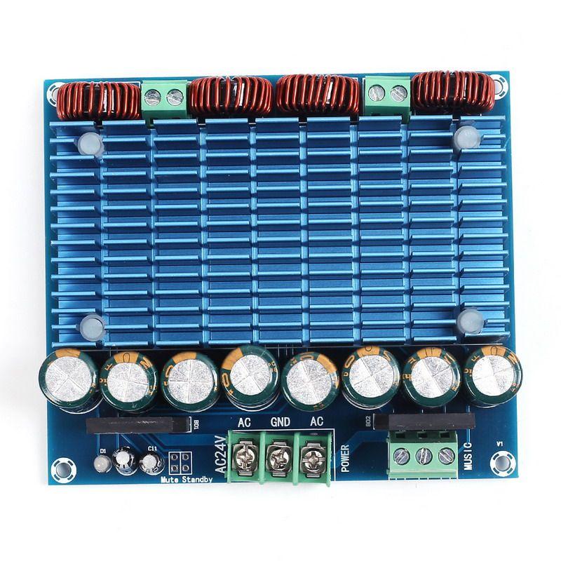 Ultra High Power Digital Amplifier Module AC 24V Stereo TDA8954TH Dual Chip 2x420W XH-M252 Digital Power Amplifier Board