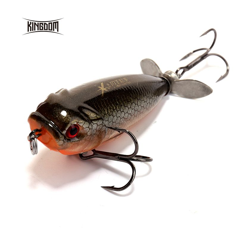 Kingdom 5.5cm/8.8g Floating Type Fishing lure Pencil Baits Plastic Hard Bait Spinner Tail Seven Color Available model 5283